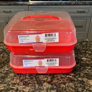 SUREFRESH REUSABLE CUPCAKE HOLDER SET OF 2 NWT